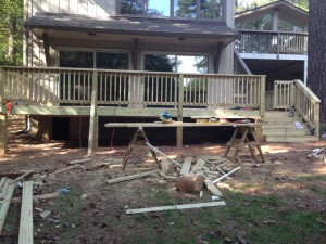 Deck Renovations on Skidaway Island by American Craftsman Renovations
